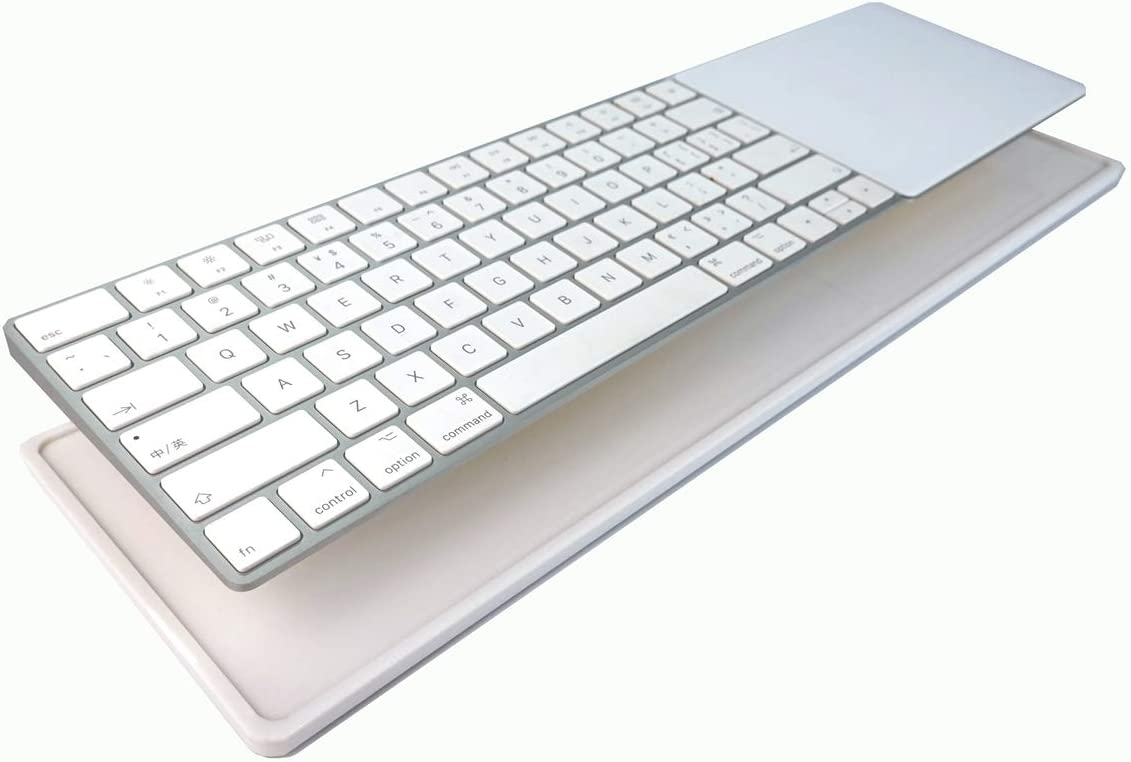 PERFECT DAY Stand Connects Magic Trackpad 2(MJ2R2LL/A) and Apple Latest Magic Keyboard(MLA22LL/A)   Trackpad and Keyboard not Included