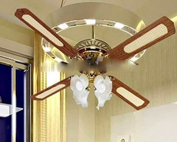 Las hojas de ventilador de techo con una lámpara, ventilador ...