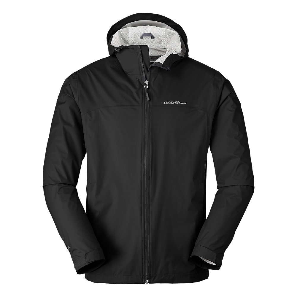 Eddie Bauer Men's Cloud Cap Lightweight Rain Jacket, Black Regular M