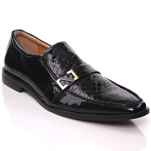 Unze Hombres Bush «Cuero español abrochó Oficina Adorned , Zapatos de vestir: Amazon.es: Zapatos y complementos