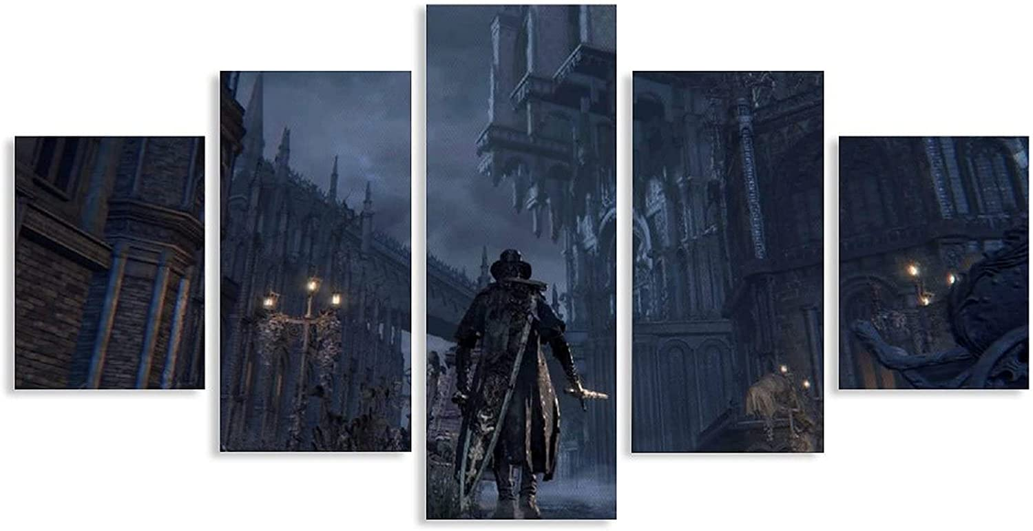 YuFeng_Art_Inn Hang A Picture Room Decor Posters Bloodborne Classes 5 Pieces Bedroom Decoration Paintings Unframe-style1 8