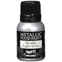 Rainbow Dust Metallic-Lebensmittelfarbe Silver Light, 1er Pack (1 x 25 ml)