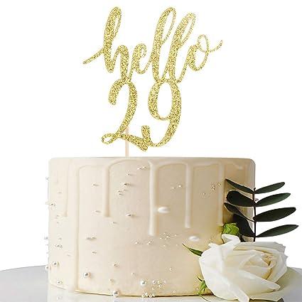 Decoración para tarta de 29 cumpleaños y 29 aniversarios ...