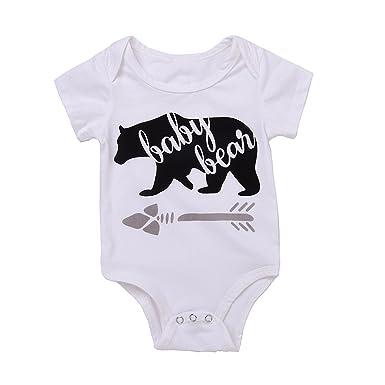 352ffbe1451 Amazon.com  Newborn Baby Girl Baby Boys Clothes Cartoon Print Sleeveless  Romper Jumpsuit Playsuit  Clothing