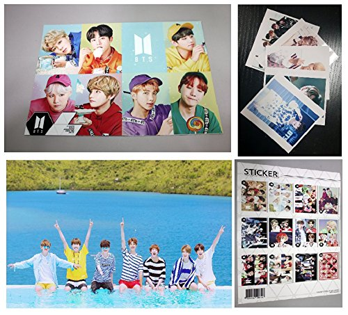 BTS Bangtan Boys - 12 posters, 5 fotos, 1 sticker