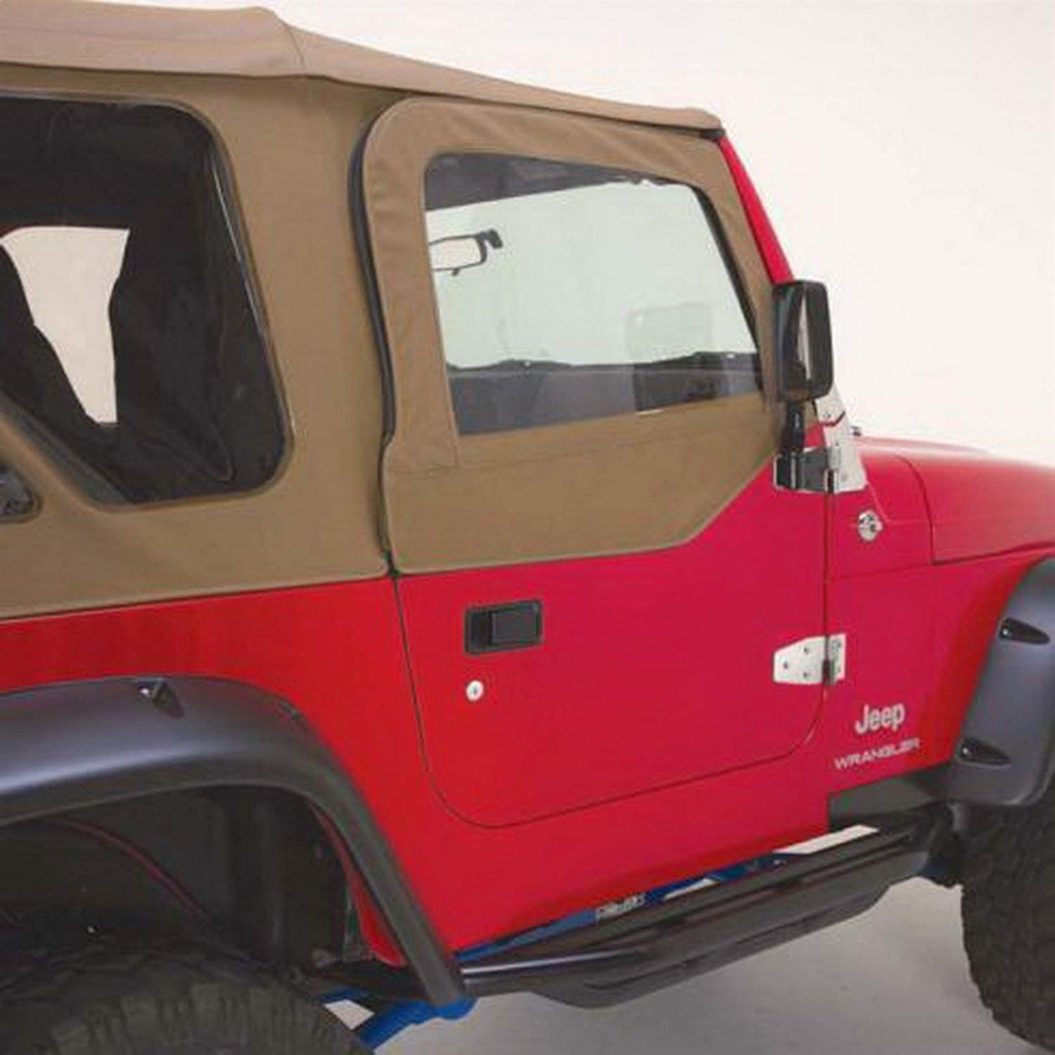 for 1987-1995 Jeep Wrangler YJ for Soft Upper Doors RAMPAGE PRODUCTS 89617 Spice Factory Replacement Door Skins