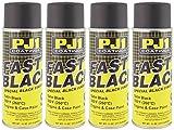 PJ1 16-SAT-4PK Satin Black Engine Spray Paint, 44 oz, 4 Pack