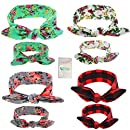 Gellwhu 8PCS Mom and Me Headband Baby Girls Headwrap Knot Hairband Hair Bow Set