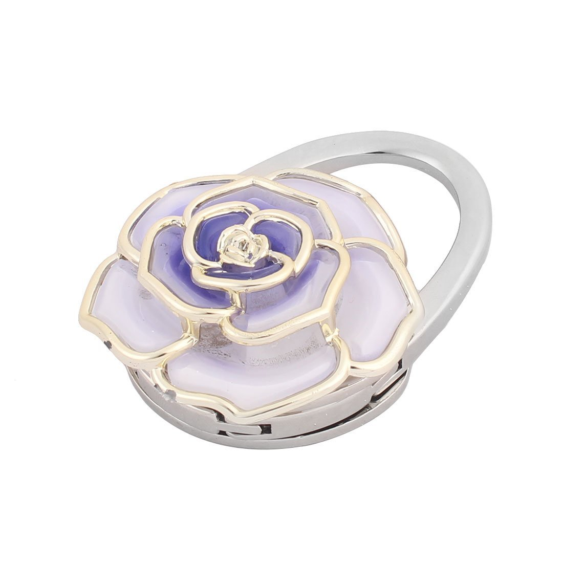 Amazon.com: eDealMax Forma Mujer de la Flor Señora hecha a Mano de la gema de la decoración del monedero de la Tabla del gancho púrpura: Home & Kitchen