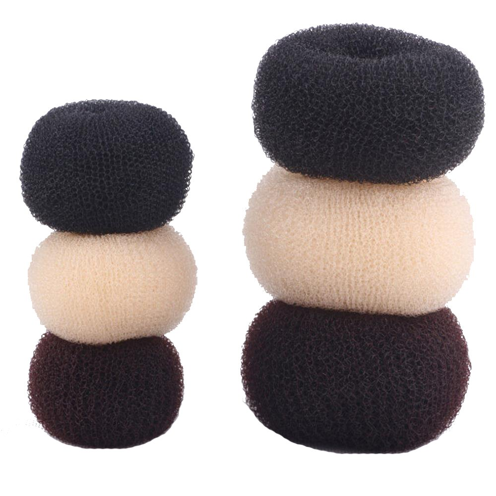 Hair Bun Shaper Set, 6 Pcs Donut Bun Maker Hair Ring Fun Styler Hair Sponge Easy to Use-Black,Coffee and Beige by okdeals (Image #1)