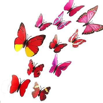 amazon com uge 24pcs magnetic popular colorful 3d diy butterfly