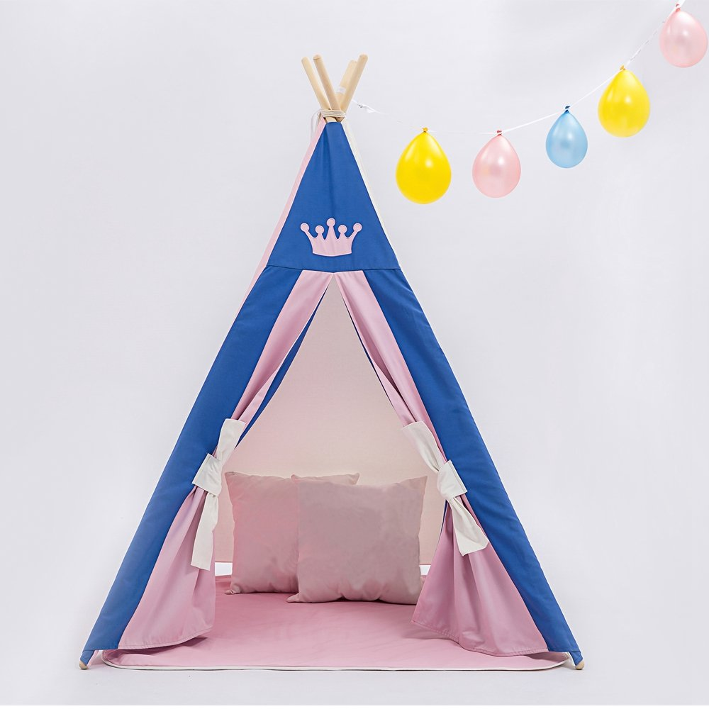 UKadou 2 Person Kinder TeePee Zelt und Single Layer Großes Indoor Tipi Zelt für Kleinkinder - Passend für alle Kinder Playhouses