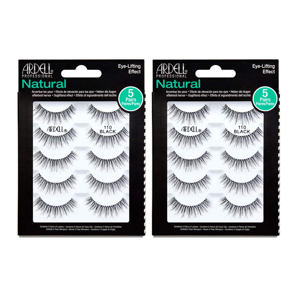 Ardell False eyelashes #110 Black, 5 Pairs x 2 Packs