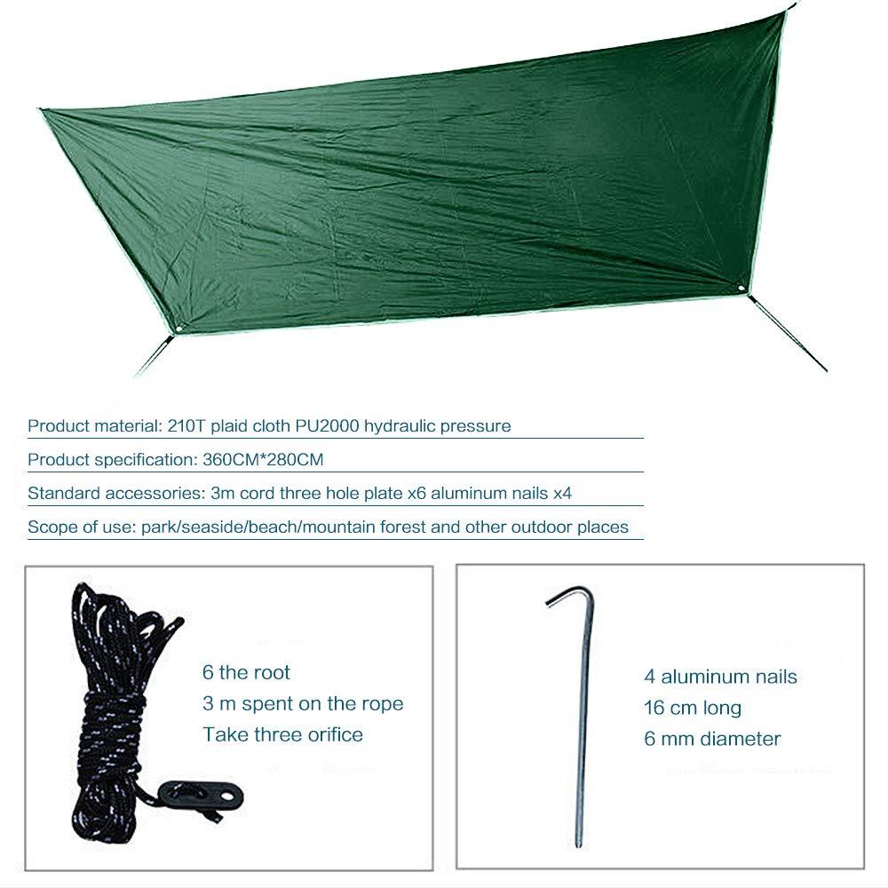 Durable Compact Suspendus Parachute Nylon Tissu Hamac Camping pour lext/érieur Jungle randonn/ée Voyage P/êche Field de Survie Qrout Camping Hamac avec Moustiquaire et Housse de Pluie