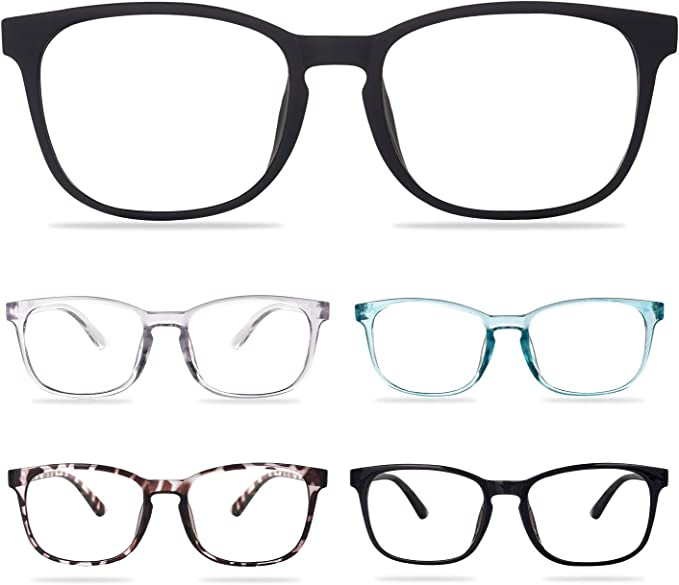 CHEERS DEVICES 5-Pack Reading Glasses Blue Light Blocking