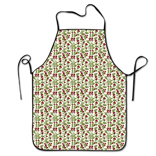 White Red Strawberries Personalized Aprons Home Bib Apron For Women Men Girl Kids Gifts Kitchen Decorations