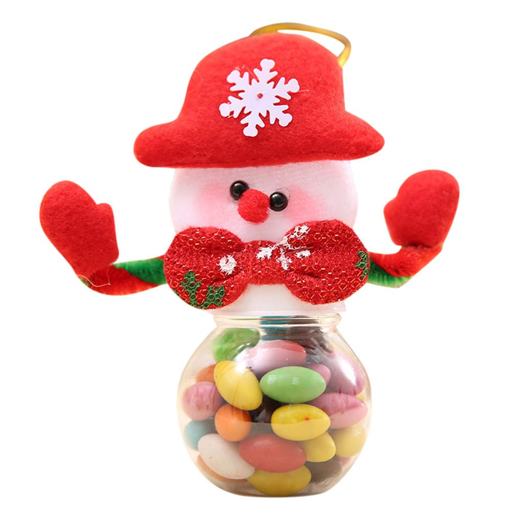 Zoilmxmen Cute Christmas Candy Storage Can Decor for Home Xmas Biscuit Food Storage Jar