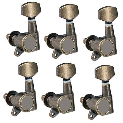 Baosity 6 piezas 6L Clavijas de afinación para guitarra eléctrica acústica