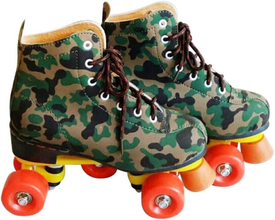 Optimal ローラースケートシューズ レディース メンズ 安全 スタイリッシュ ローラースケートシューズ 大人 ユース オレンジ US Size 9.5 - Inner shoe length 270mm