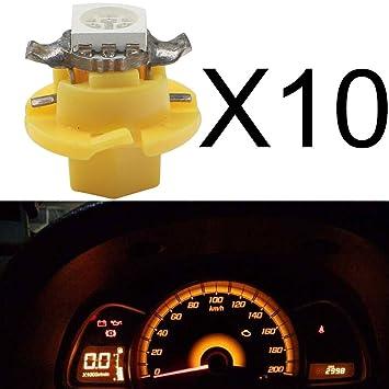 Bombillas Grandview para salpicadero de coche, 10 unidades, LED T5 B8.4 5050