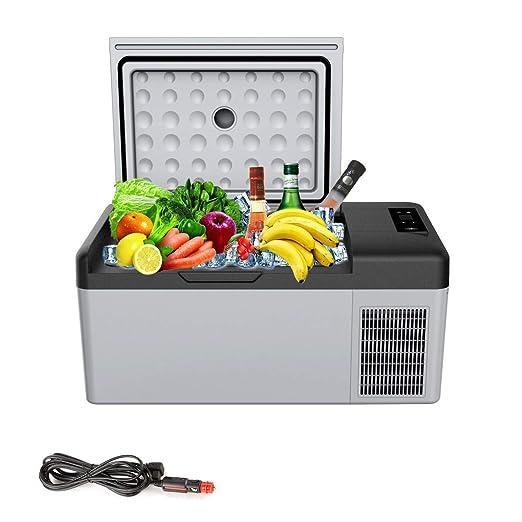 LQFLD Mini Nevera,15L Refrigerador portátil, para el Coche AC DC ...