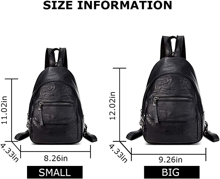 Fashion Backpack Multi-Function Small Backpack Women Pu Leather Shoulder Ha B5C7