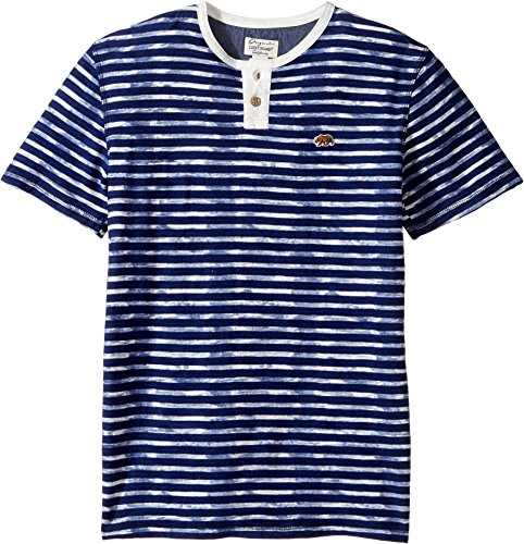 Lucky Brand Kids  Boy's Rip Curl Henley Top (Big Kids) Limoges Shirt