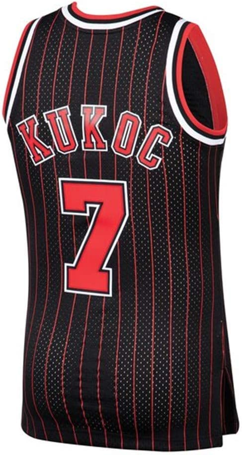 Nemwy Mens/_Youth/_Toni/_Kukoc/_#7/_Black/_Sportswears/_Training/_Competition/_Jersey S-XXL