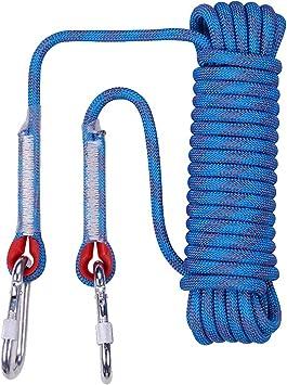 GFEU Cuerda de Escalada en Roca 10 mm, 10 m / 20 m / 30 m Seguridad Rescate de Incendios en Exteriores Paracaídas de Rescate Cuerda