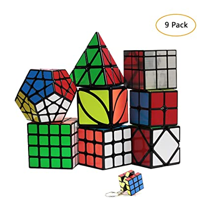 YGZN Speed Cube Set 8 Pack 2x2 3x3 4x4 Speed Cube ,Megaminx Pyramid Skewb lvy Cube Mirror Cube Smooth Speedcubing Magic Cube Puzzle for Adults and ...