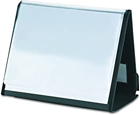 Cardinal 52132 ShowFile Horizontal Display Easel, 20 Letter-Size Sleeves, Black