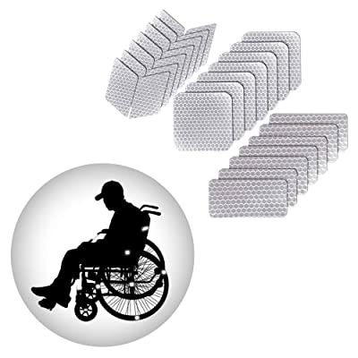 Muchkey Self-Adhesive Reflective tape Stickers Waterproof High Visibility Safety Warning Tape Stickers for Roller Skates bicycle motorcycle baby strollers DIY home decoration White: Automotive