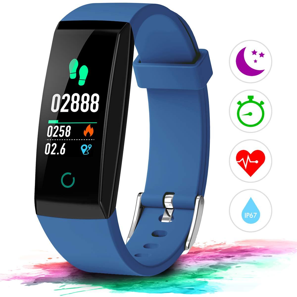 Winisok Fitness Armband Pulsmesser Fitness Tracker Wasserdicht IP67 Farbdisplay GPS Fitness Tracker Aktivitä tstracker Schrittzä hler Uhr Schlafü berwachung Anruf SMS fü r Kinder Damen Mä nner