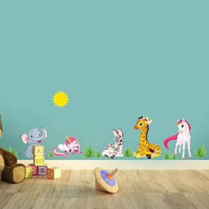 Carta da parati vector divertente cartone animato zebra urla