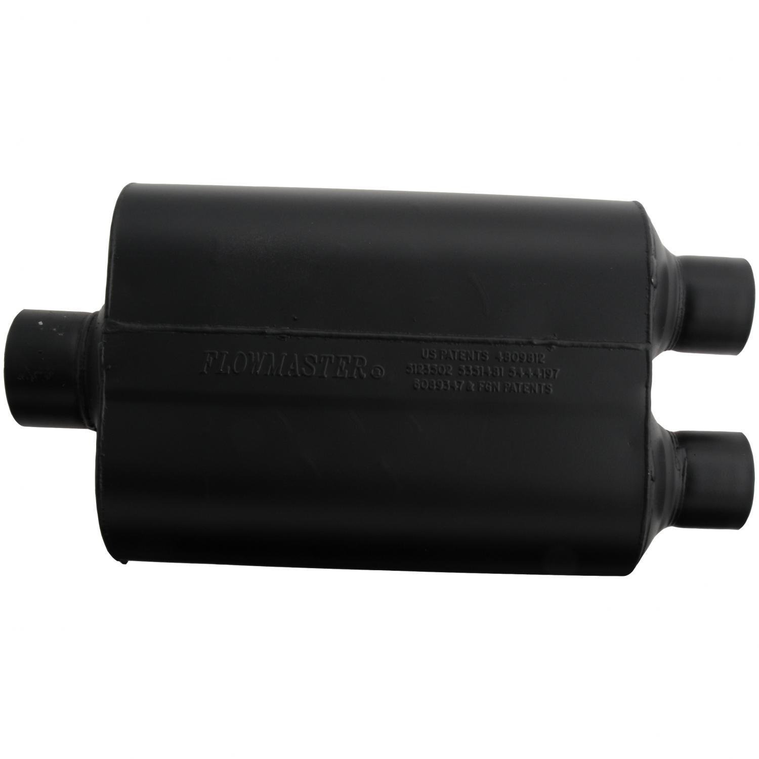 Flowmaster 9530452 Super 40 Muffler - 3.00 Center IN / 2.50 Dual OUT - Aggressive Sound by Flowmaster