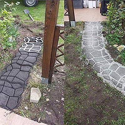 Adoquín De Hormigón Jardín Césped Camino Antiguo Adoquín Adoquín Molde: Amazon.es: Bricolaje y herramientas