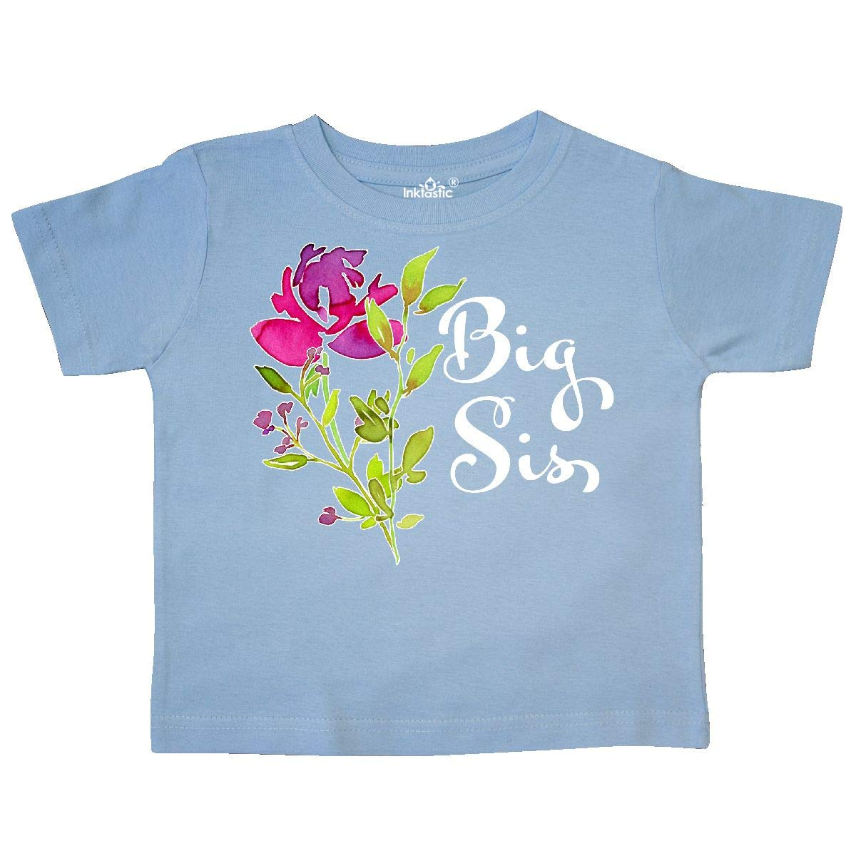 inktastic Big Sis Pretty Flower Toddler T-Shirt