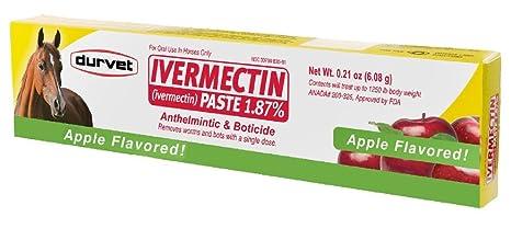 Durvet Ivermectina pasta tubo 1,87% Wormer Bots parásitos dewormer Equine caballo