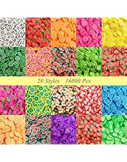 16000 pcs Fruit Slices Charms, VEINARDYL Nail Art Slices 3D Polymer Clay for DIY Crafts Resin Slime Making Cellphone Decoration