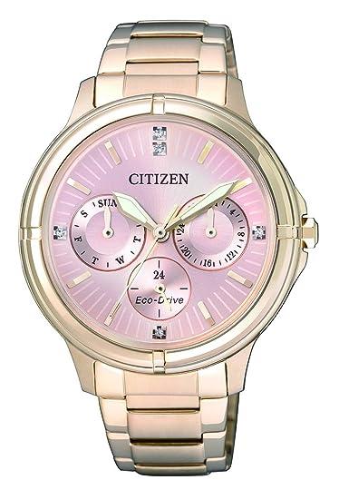 Citizen - Reloj de Pulsera analógico para Mujer Cuarzo, Revestimiento de Acero Inoxidable fd2033 - 52 W: Citizen: Amazon.es: Relojes