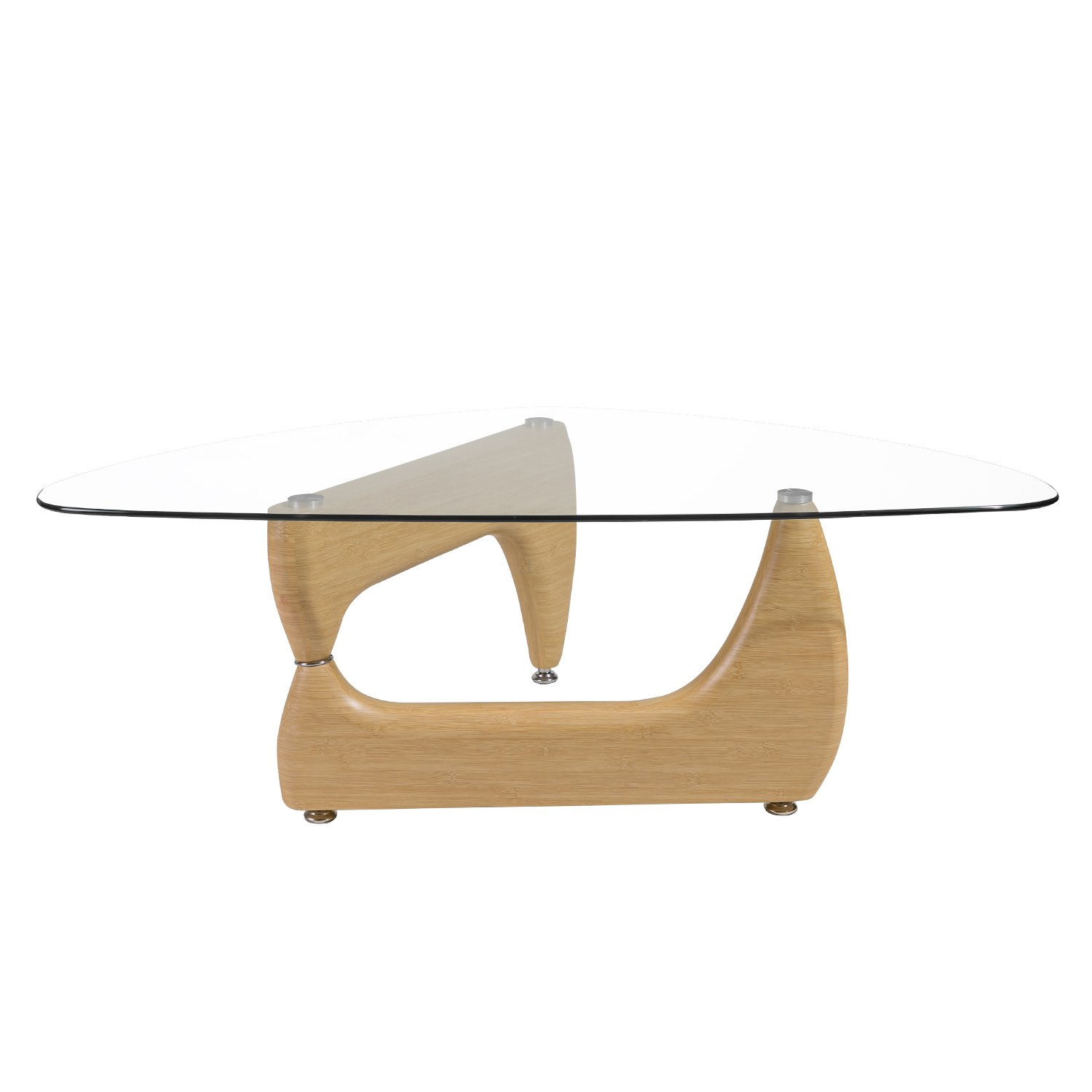 Amazon Merax Isamu Noguchi Style Coffee Table with Glass Top
