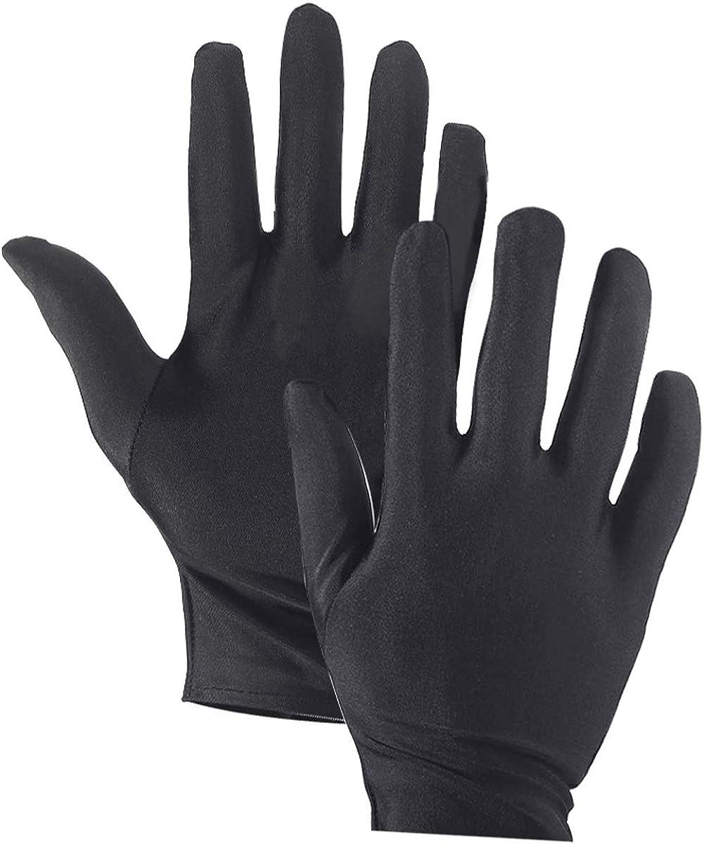 WTSHOP 20 Pairs Black Working Glove,Lightweight Soft Protective Working Glove,Black Cotton Gloves Work Gloves for Ceremony