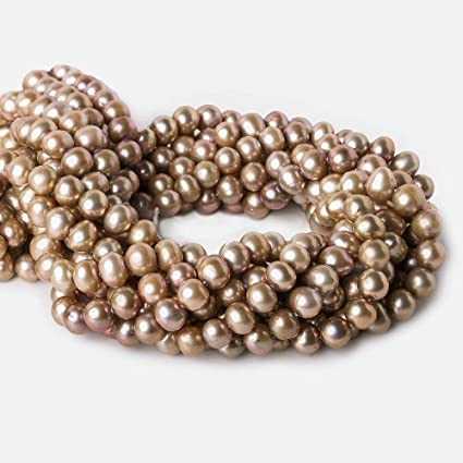 Fresh Water Pearl Drop Briolette 15 inches strand Brown Champagne Color 11x9mm Pearls