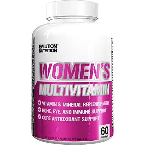 Evlution Nutrition Womens Daily Multivitamin Supplement - Biotina, Vitaminas A B C D E, Calcio, Zinc,