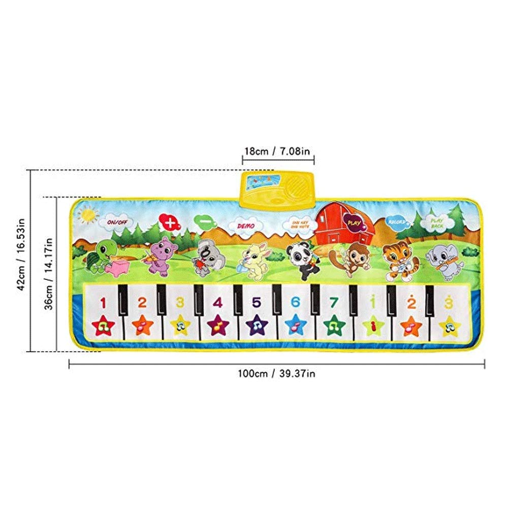 Mopoq Fresh Family Piano Mat Children's Music Mat Dance Mat Educational Toys Birthday Christmas Easter Boys And Girls Gifts Children Early Learning Puzzle Foot Steps Grand Piano Dance Mat Music Mat Pa by Mopoq (Image #6)