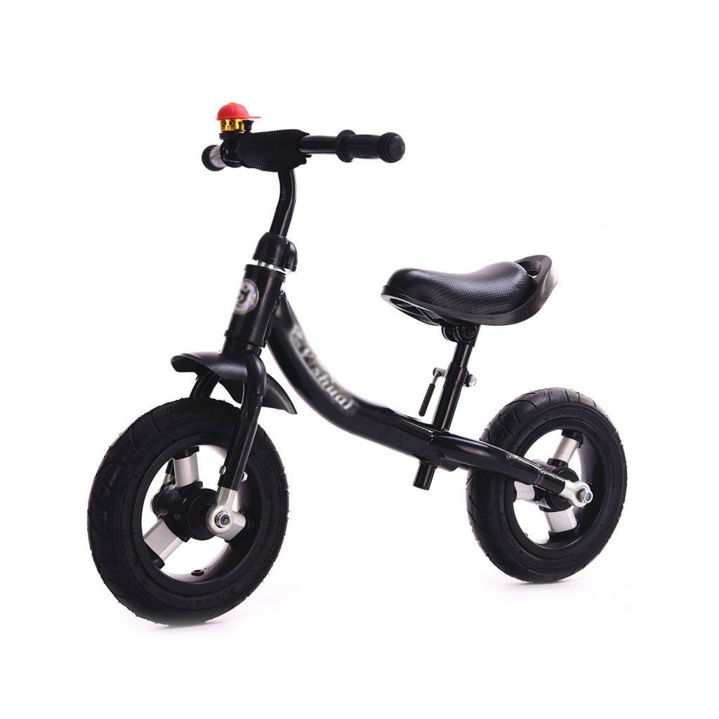 子供のスクーターペダルなしバギー子供ダブルホイール自転車子供のスクーターベビースクーターなしペダル2輪スクーターバランス車の歩行者の葉2-8歳 B01LZ4RN2H Black Black