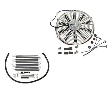 """Ventilador del radiador de refrigeración eléctrico hoja recta cromada 10 """"y para aceite de"""