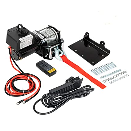 Amazon com: Classic 3000lbs 12V Electric Recovery Winch Truck SUV