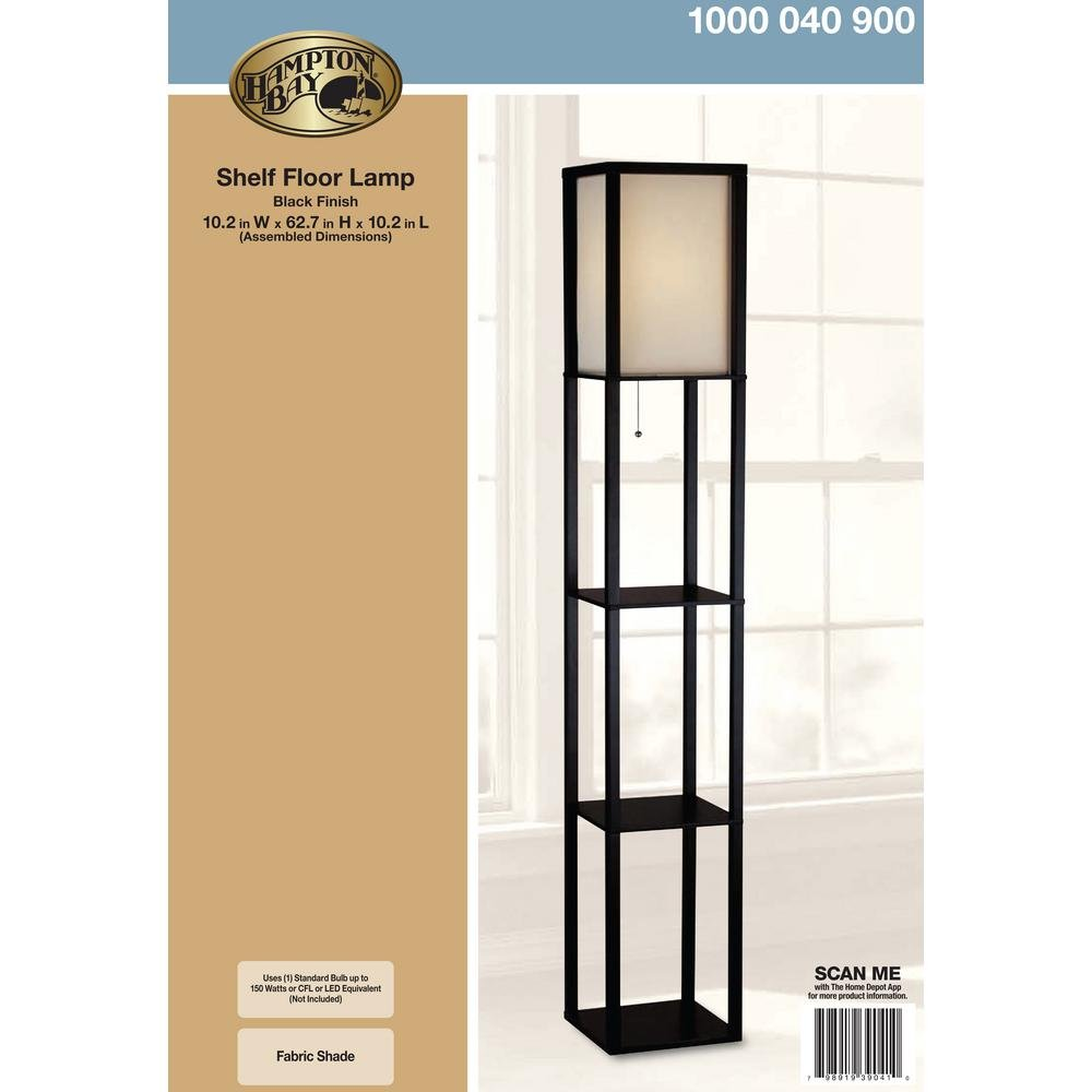 Amazon.com: 62.75 in. Black Shelf Floor Lamp: Office Products