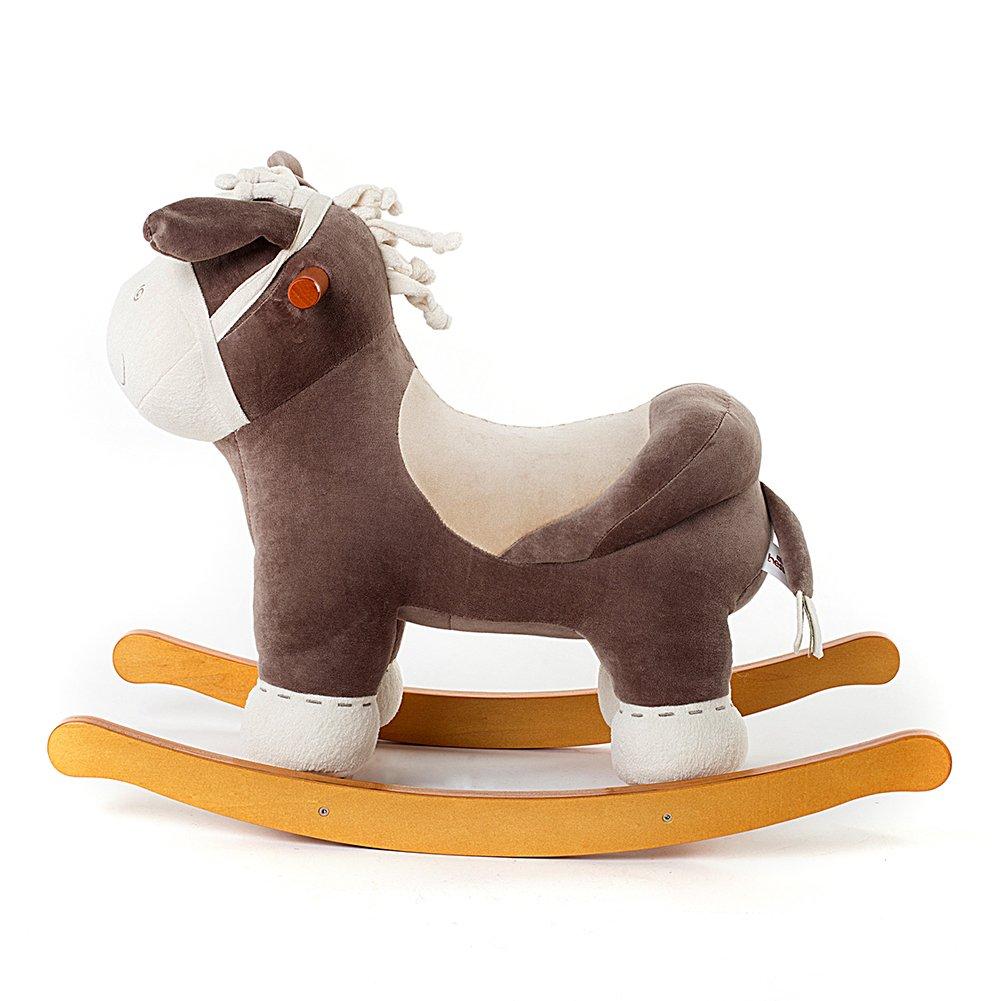 labebe cheval bascule enfant orange renard jeu. Black Bedroom Furniture Sets. Home Design Ideas